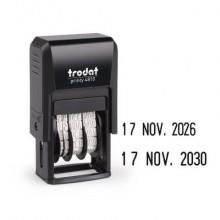 Datario autoinchiostrante TRODAT PRINTY 4810 in plastica nero 70383