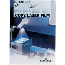 Lucidi per lavagne luminose DURABLE A4 trasparenti Conf. 100 pezzi - 8331-19