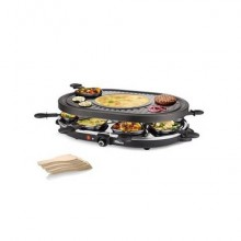 Raclette Princess 8 Oval Grill Party SD nero 1200 Watt 01.162700.01.001