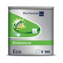 Detergente per lavastoviglie 3 in 1 Svelto ECO Professional 100 pastiglie 20 bianco  conf. 100 pezzi - 100904028