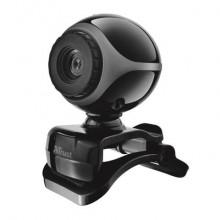 Webcam EXIS Trust con microfono integrato - nero/argento 17003