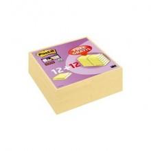 Foglietti riposizionabili Post-it® 654 Canary Yellow 76x76 mm - Value Pack 12 pad + 12 pad OMAGGIO - 7100172240