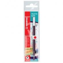 Refill per penna roller a scatto Palette Stabilo rosso Conf. 10 pezzi - 268/040-01