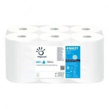 Asciugamano Autocut Papernet Dry Tech 1 velo - bobina 165 m - bianco Conf 6 bobine - 416637