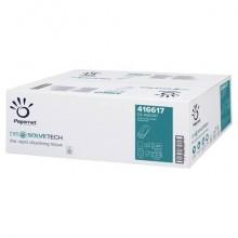 Asciugamani interfogliati piegati a Z Papernet Dissolve Tech - 2 veli 24x20,3 cm Conf. 20 fascette da 200 pz - 416617