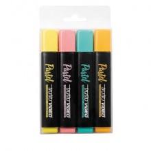 Evidenziatori Tratto Video Pastel assortiti pastello - tratto 1-5 mm - busta appendibile da 4 pezzi - 835800