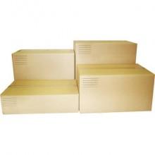 Scatole americane imballo di cartone a 2 onde Euroscatola 600x400x400 mm colore avana - conf. 10 pezzi - 126467