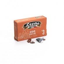 Puntine da disegno in acciaio Leone N° 3 diametro testa 11,5 mm - scatola di cartone da 100 pezzi - PL3