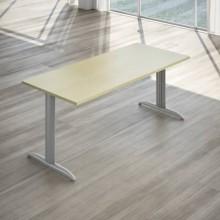 Scrivania LineKit Koros 180x80xH.75 cm piano acero - struttura acciaio alluminio - S2030KAC