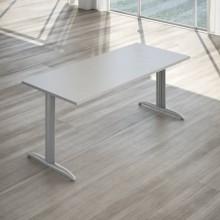 Scrivania LineKit Koros 180x80xH.75 cm piano grigio - struttura acciaio alluminio - S2030KGR