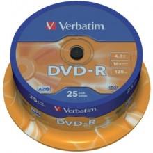 DVD-R Verbatim 16x 4.7 GB  in confezione da 25 dvd - 43522