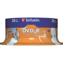 DVD-R Wide Stampabile Verbatim 4.7 GB  in confezione da 25 dvd - 43538