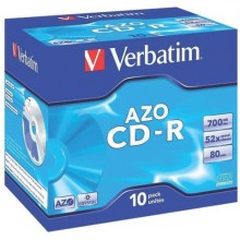 CD-R AZO Verbatim 52x 700 MB  Conf. 10 pezzi - 43327