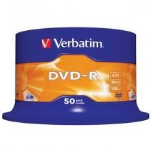 DVD-R Verbatim 16x 4.7 GB  in confezione da 50 dvd-r - 43548