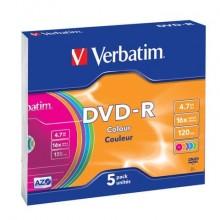 DVD-R Verbatim 16x 4.7 GB  conf. da 5 - 43557