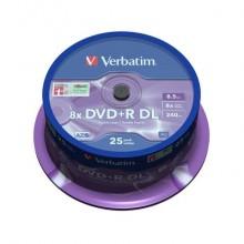DVD+R Double Layer Verbatim 8.5 GB  in confezione da 25 dvd+r - 43757