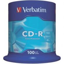CD-R Extra Protection Verbatim 700 MB  in confezione da 100 cd-r - 43411