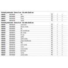 Registratore con custodia Esselte G55 Eurofile protocollo 29,5x35 cm - dorso 8 cm turchese - 390755800