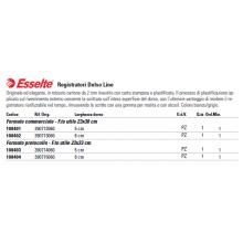 Registratore con custodia Esselte G13 Delsoline commerciale 29,5x32 cm - dorso 8 cm grigio - 390713060
