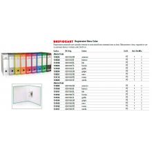 Registratore protocollo BREFIOCART New Color Mignon 35x28,5 cm dorso 5 cm con custodia blu - 0201183.BL