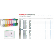 Registratore protocollo BREFIOCART New Color Mignon 35x28,5 cm dorso 5 cm con custodia rosso - 0201183.RO