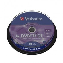 DVD+R Doppio Strato Verbatim 8.5 GB  in confezione da 10 dvd-r - 43666