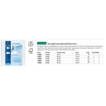 Raccoglitore personalizzabile Exacompta A4 maxi Kreacover® 4 anelli a D bianco 30 mm - 51942E
