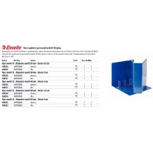 Raccoglitore personalizzabile Esselte Display a 4 anelli a D 30mm PP eco-comp. blu formato Maxi - 394756500