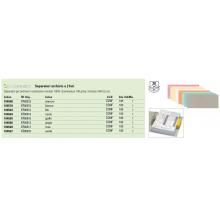 Separatore per archivio con due fori Q-Connect 24x10,5 cm 190 g/m² blu conf. da 100 - KF00512
