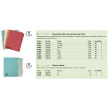 Divisori colorati Q-Connect assortiti 22,3x29,7 cm cartoncino manilla 10 fogli KF01860