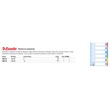 Divisori Esselte intercalari 6 tasti cartoncino 160 gr/mq A4 100192