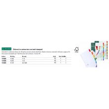 Intercalari stampati in digitale Exacompta Protect'o cartoncino A4 160g/mq 12 tasti da 1 a 12 - 1112E