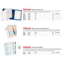 Divisori per rubrica Esselte A4 PPL numerica 1-10 100105