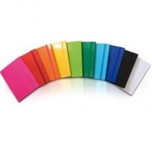 Portaoggetti in cartone con elastico piatto EURO-CART Iris dorso 3 cm azzurro CPIRI03ELPAZ