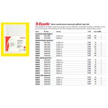 Buste a perforazione universale goffrate Esselte OFFICE 15x21 cm trasparente antiriflesso  conf.25 - 395612200