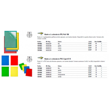 Cartelline a L in PVC Sei Rota Capri 61 colorato - altissimo spessore verde 10 pz. - 26306205