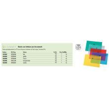 Portadocumenti con bottone Q-Connect A4+ ppl blu KF03596 (Conf.12)