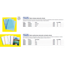 Buste a perforazione universale goffrate FAVORIT A4 banda giallo conf. 10 pezzi - 100460029
