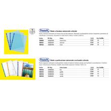 Buste a perforazione universale goffrate FAVORIT A4 banda verde conf. 10 pezzi - 100460031