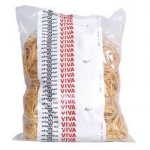 Elastici Viva in busta in gomma giallo 100 mm conf.1000 gr - E100