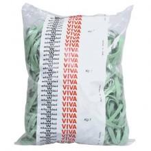 Fettucce Elastiche Viva in busta in gomma naturale verde 100x8 mm conf.1000 gr - F8x100