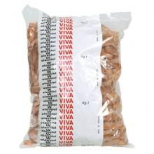 Fettucce Elastiche Viva in busta in gomma naturale tabacco 100x8 mm conf.1000 gr - G8x100