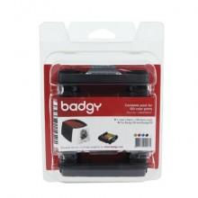 Kit di stampa per badge Evolis Badgy con 100 schede in Pvc da 0,76 cm - nastro multicolore - CBGP0001C