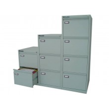 Classificatore per cartelle sospese KUBO 4 cassetti 46x62x132 cm grigio 4004