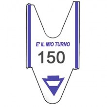 Rotolo tagliandi per eliminacode Printex 2000 tagliandi a 3 cifre blu conf. 5 rotoli - TR/ROLL/BLU3