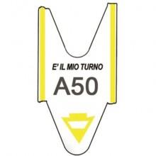Rotolo tagliandi per eliminacode Printex 2000 tagliandi f.to lettera + 2 cifre giallo  Conf. 5 pezzi - TR/ROLL/GIA