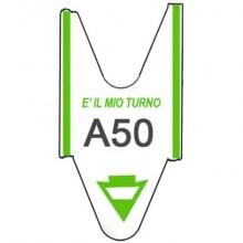 Rotolo tagliandi per eliminacode Printex 2000 tagliandi f.to lettera + 2 cifre verde  Conf. 5 pezzi - TR/ROLL/VER