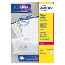Etichette bianche per indirizzi AVERY Ultragrip & Jamfree 63,5x72 mm 100 fogli - L7164-100