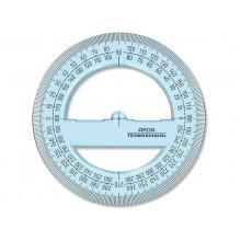 Goniometro ARDA Linea Tecnoschool polistirolo termoresistente azzurro trasparente 360° 12 cm - 405SS