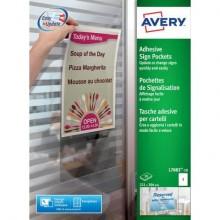 Tasche adesive Avery per fogli A4 trasparente 1 et./foglio Conf. 10 fogli - L7083-10